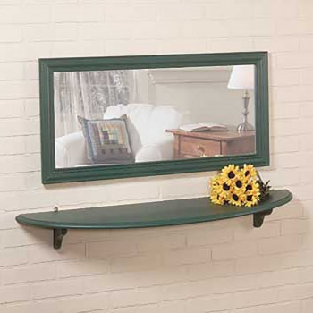 Mirror Shelf Bayberry Green Pine 43 34 Wall Shelves Shelf Shelves