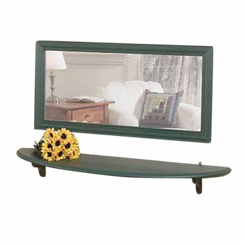 Mirror Shelf Bayberry Green Pine 43 3/4