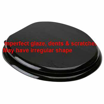 IMPERFECT Round Toilet Seat Brass PVD Fittings Black Painted Finish