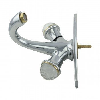 Single Hole Bathroom Sink Faucet Chrome Widespread Plate