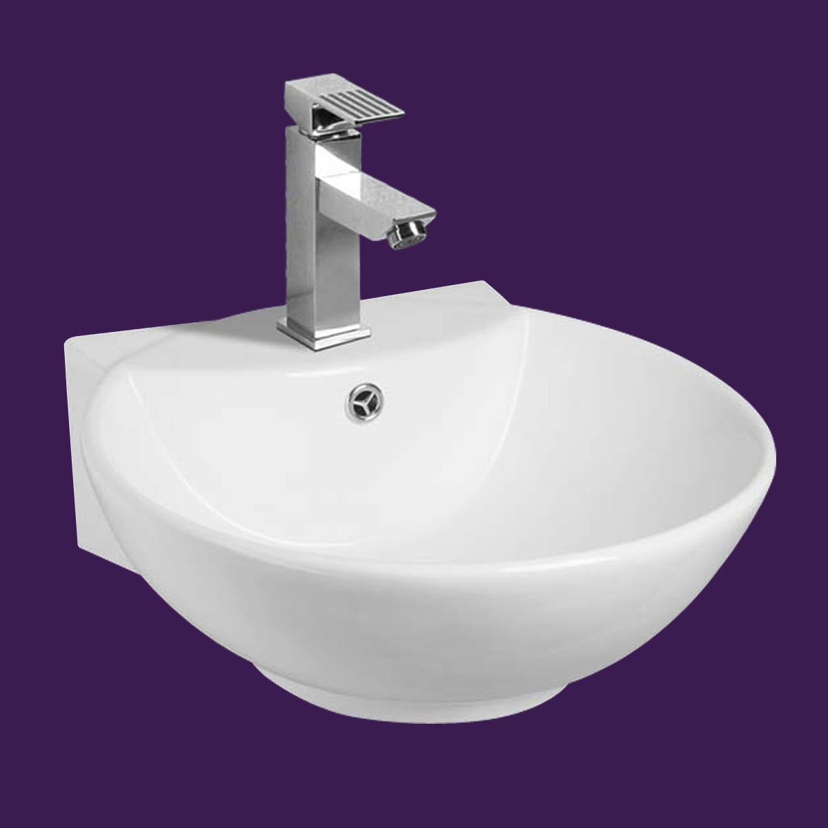 white wall mount small vessel sink easy clean and install. Black Bedroom Furniture Sets. Home Design Ideas