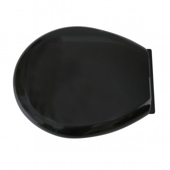Toilet Seat Slow EZ Close No Slam Plastic Round Black Black Toilet Seat Toilet Seat Round Slow Close Toilet Seat