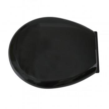 <PRE>Toilet Seat Slow EZ Close No Slam Plastic Round Black </PRE>zoom4