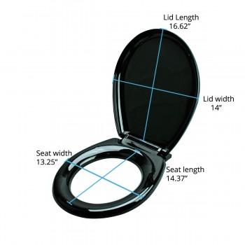 spec-<PRE>Toilet Seat Slow EZ Close No Slam Plastic Round Black </PRE>