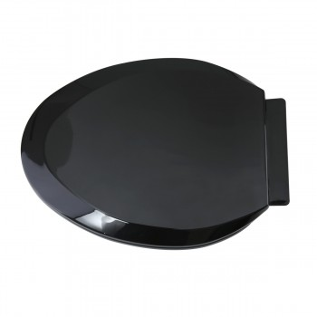 <PRE>No Slam Easy Close Black Elongated Heavy Duty Plastic Toilet Seat </PRE>zoom4