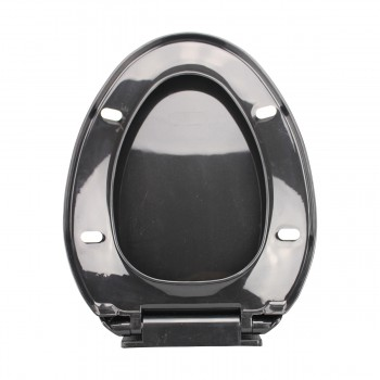 <PRE>No Slam Easy Close Black Elongated Heavy Duty Plastic Toilet Seat </PRE>zoom12
