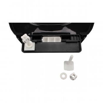 <PRE>No Slam Easy Close Black Elongated Heavy Duty Plastic Toilet Seat </PRE>zoom13