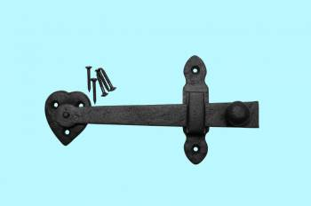 Door Gate Latch Set Black Wrought Iron 4 H x 7 12 W Wrought Iron Gate Latch Gate Latch Rust Proof Antique Gate Latch