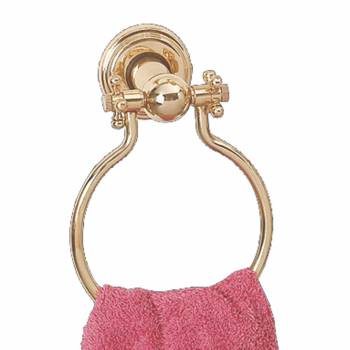 Victorian Solid Brass Towel Ring 6