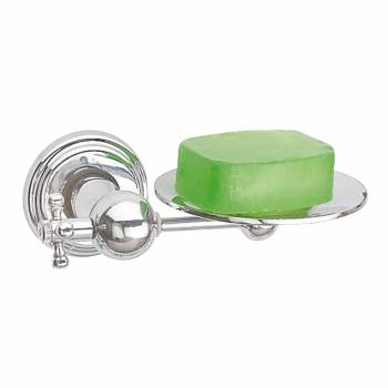 Traditional Brass Soap Dish Chrome  Wall Mount