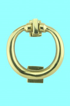 <PRE>Solid Brass Ring Door Knocker 4 1/2 inch. H x 4 inch. W</PRE>zoom2
