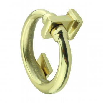 <PRE>Solid Brass Ring Door Knocker 4 1/2 inch. H x 4 inch. W</PRE>zoom4