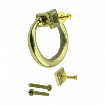 <PRE>Solid Brass Ring Door Knocker 4 1/2 inch. H x 4 inch. W</PRE>zoom9