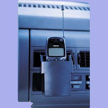 <PRE>Car Cell phone Holder Black Vinyl </PRE>zoom2