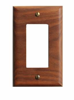 Walnut GFI Wallplate