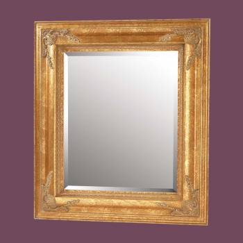 <PRE>Antique Gold Gilded Frame Mirror 34inch Square </PRE>zoom2