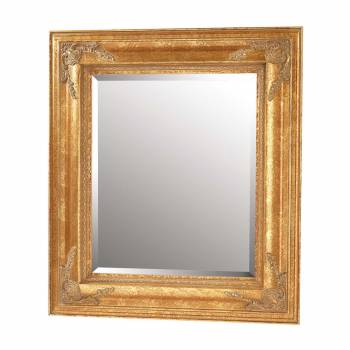 Gold Square Mirror  Gilded, Antique Finish