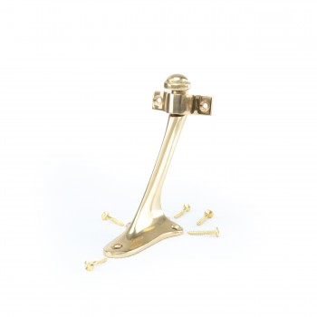 <PRE>Stair Hand Rail Bracket Bright Solid Brass </PRE>zoom6