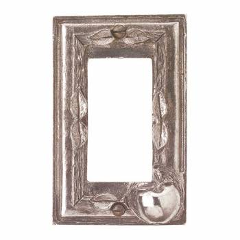 Switchplate Antique Solid Brass Apple GFI 20650grid