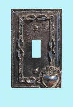 Switchplate Antique Silver Apple Toggle Switch Plate Wall Plates Switch Plates