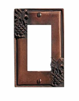 Switchplate Antique Copper Light Switch Pineapple GFI 20669grid