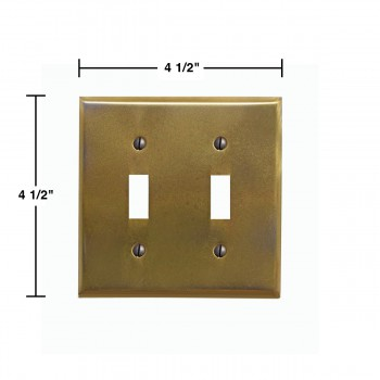 spec-<PRE>Switchplates Antique Stainless Steel Double Toggle </PRE>
