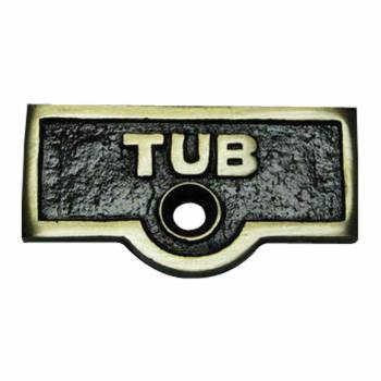 Switch Plate Tags TUB Name Signs Labels Antique Brass 20692grid