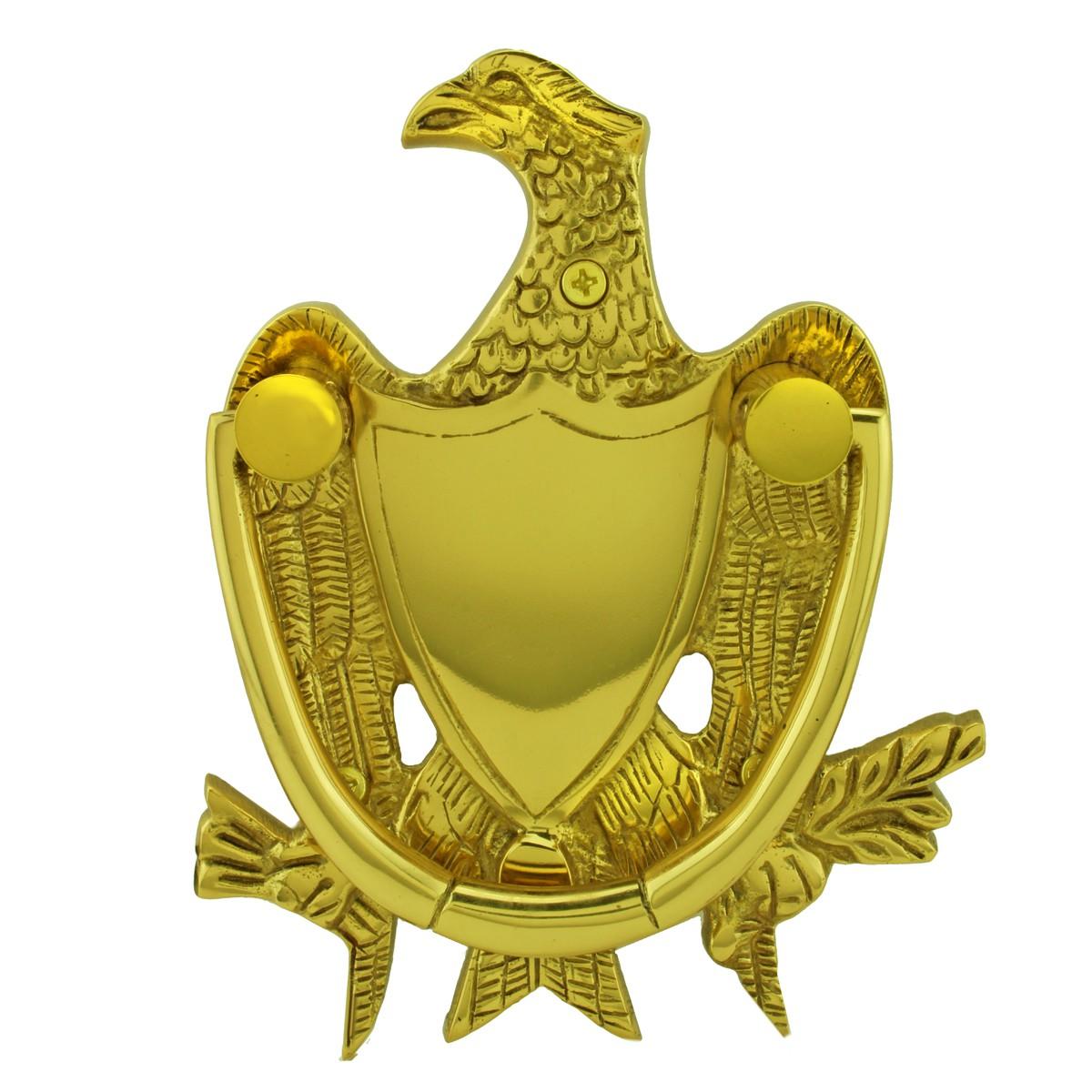 ... U003cPREu003eSolid Brass Eagle Head Door Knocker 6 Inch.