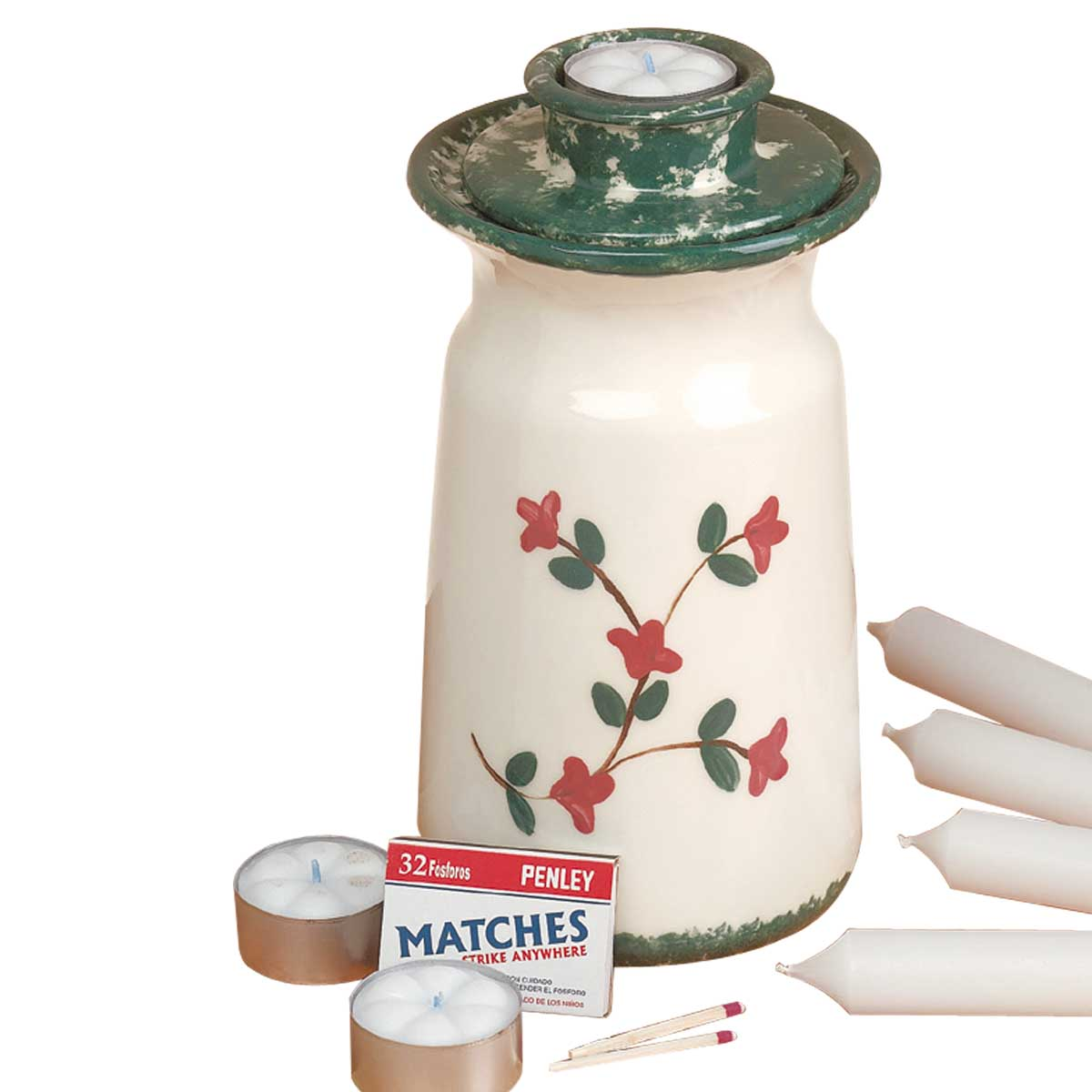 Candle Holder White Pottery Holder