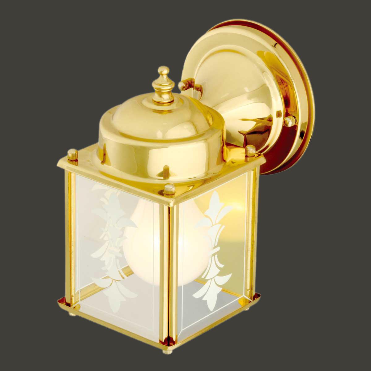 "Outdoor Wall Light Bright: Wall Light Bright Brass Outdoor Light Captain's Lamp 7""H"