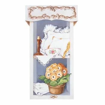Wall Art White Wood Print Pantry Scene Set of 2 36