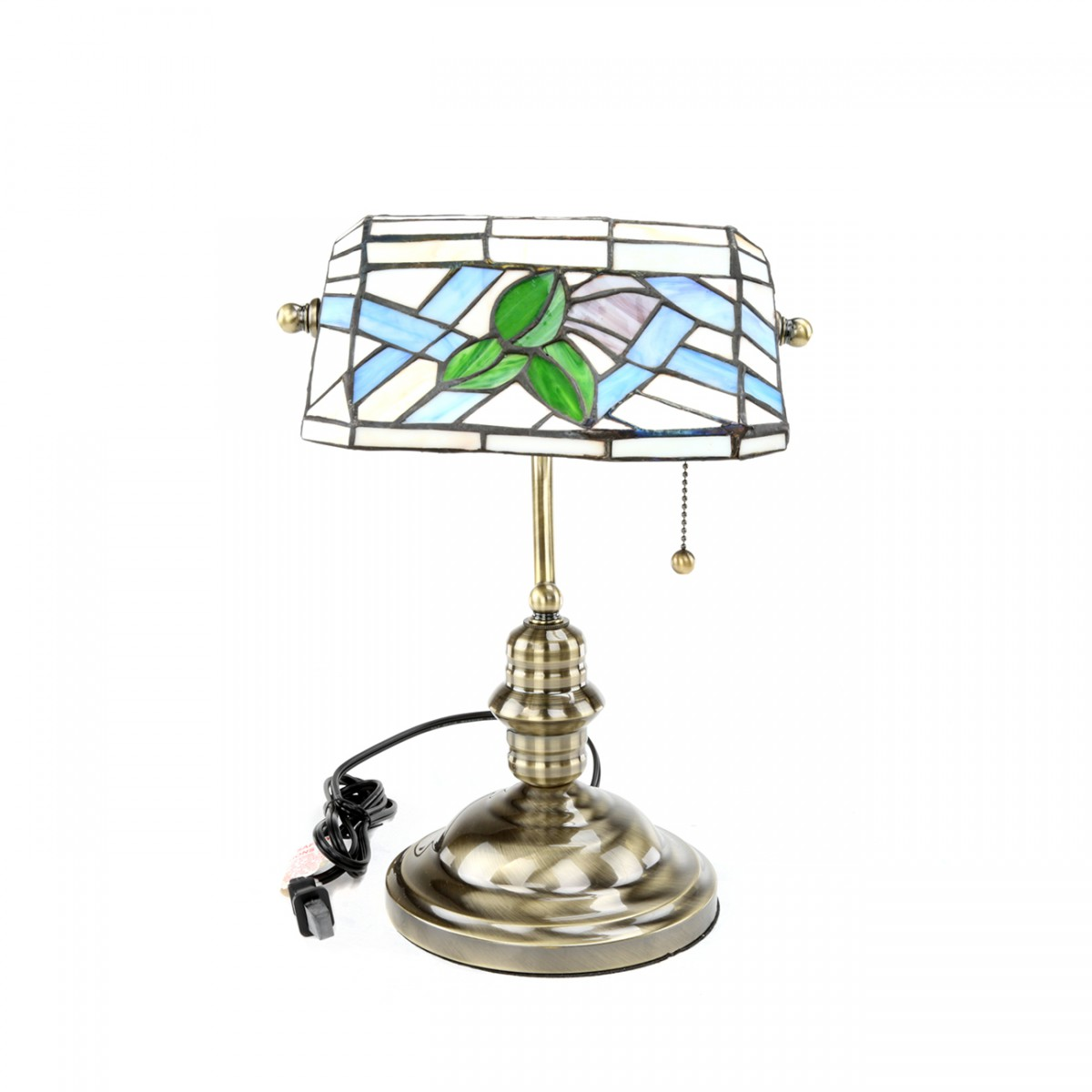 Table Lamp Antique Brass Style Stained Glass 14H Designer Table Lamps Bedside Lamp And Light Modern Design Home Table Lamps