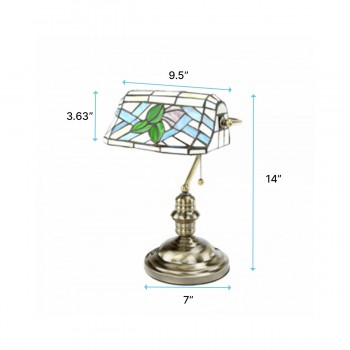 Table Lamps - Table Lamp Banker's Lamp Tiffany Style Light by the Renovator's Supply
