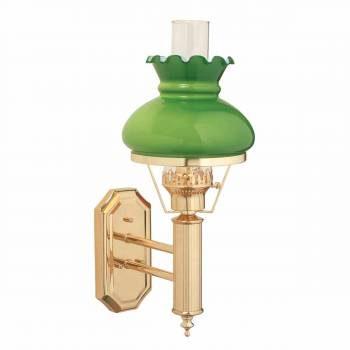 Sconces Bright Brass 165H Hurricane Sconce