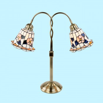 Table Lamp Tiffany Style Lamp  Trumpet Lamp - Floor Heat Registers, Aluminum, steel, wood and brass Floor heat registers info & free shipping by Renovator's Supply.