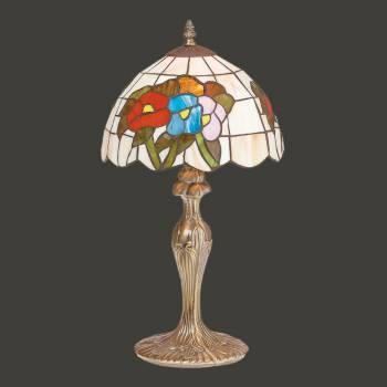 Table Lamp Antique Brass  Style Stained Glass 19H Designer Table Lamps Bedside Lamp And Light Modern Design Home Table Lamps