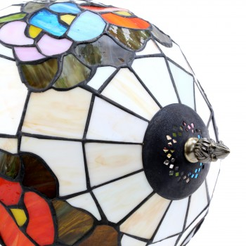 <PRE>Table Lamp Antique Brass  Style Stained Glass 19inchH </PRE>zoom7