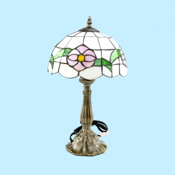 Table Lamp Tiffany Style Light Flower Lamp - Floor Heat Registers, Aluminum, steel, wood and brass Floor heat registers info & free shipping by Renovator's Supply.