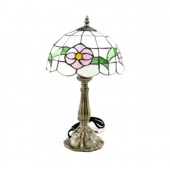 Table Lamp Antique Brass Bouquet Style 18.75