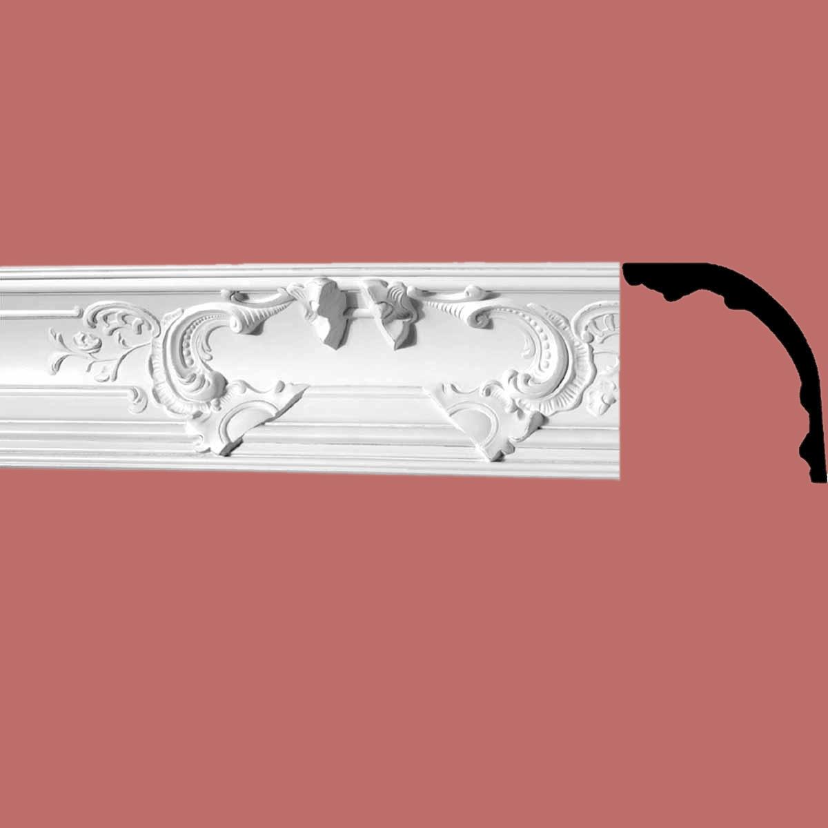 Cornice White Urethane Sample of 2079216.5 Long Cornice Cornice Moulding Cornice Molding