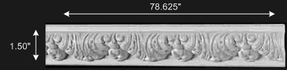 "spec-<PRE>Ornate Cornice White Urethane   78 5/8"" L  Bebel </PRE>"