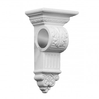 Curtain Rod Bracket Victorian White Urethane 10 58H