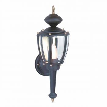 Outdoor Lighting Black Aluminum 5 Panel Outdoor Lamp 20815grid