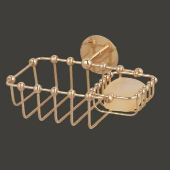 <PRE>Solid Brass Soap Dish Sponge Basket Wall Mount 2 In 1 </PRE>zoom2