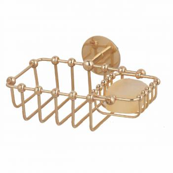 <PRE>Solid Brass Soap Dish Sponge Basket Wall Mount 2 In 1 </PRE>zoom1
