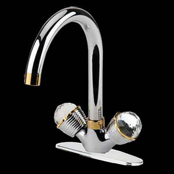 <PRE>Bathroom Faucet Chrome 10 7/8inchH W/ Widespread Plate 2 Handles</PRE>zoom3