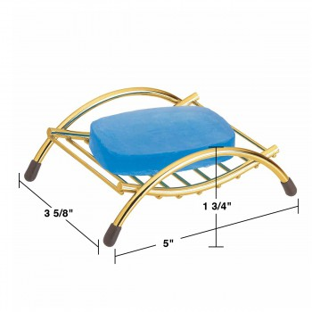 spec-<PRE>Unique Solid Brass Soap Dish Sponge Holder Beach Chair </PRE>