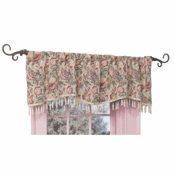 Valance Floral Cotton Poly Pocket Rod 56