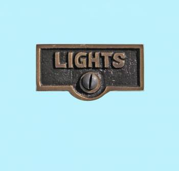 <PRE>Switch Plate Tags LIGHTS Name Signs Labels Antique Brass </PRE>