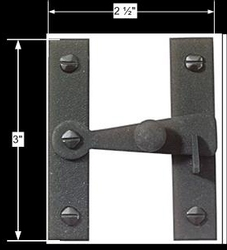 "spec-<PRE>Black Wrought Iron Wrought Iron ""H"" Flush Cupboard Latch</PRE>"